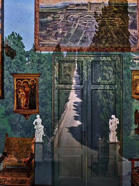 , 'Camera Obscura: View of Villa Entrance in Blue Gallery, Villa la Pietra, Florence, Italy,' 2017, Edwynn Houk Gallery
