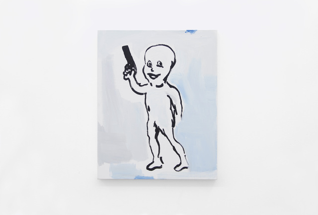 , 'Untitled Painting (Character with Gun),' 2017, Cavalo