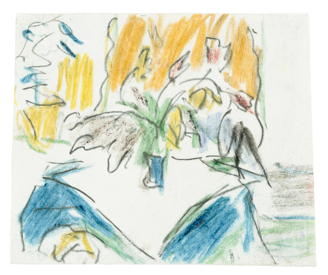 Ernst Ludwig Kirchner, '»Stillleben«', Drawing, Collage or other Work on Paper, Coloured crayon and pencil on paper, Ludorff