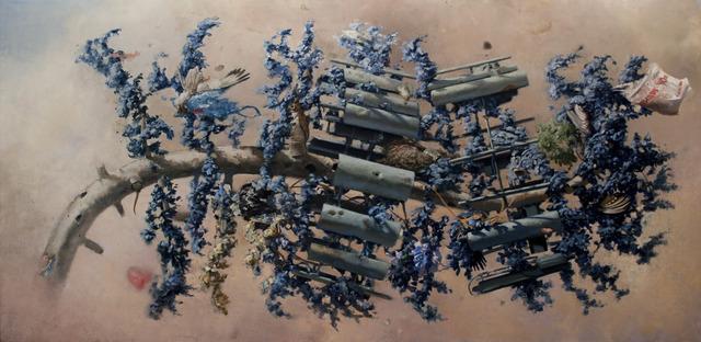 Scott Greene, 'UV Celltree', 2013, Painting, Oil on canvas on panel, Catharine Clark Gallery