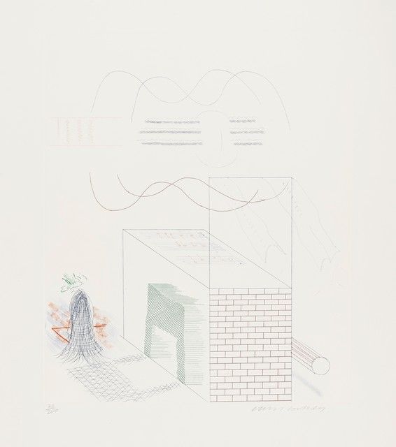 David Hockney, 'The Buzzing of The Blue Guitar (M.C.A. Tokyo 185)', 1976-77, Forum Auctions