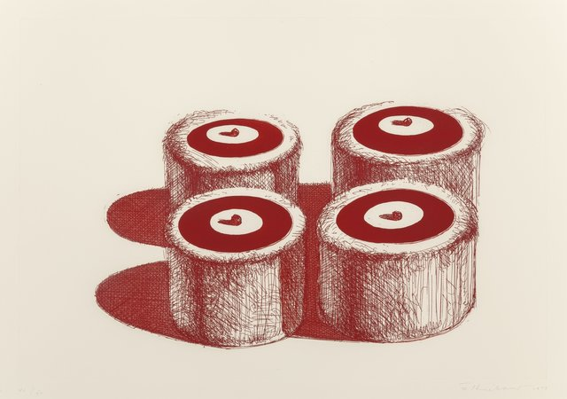 Wayne Thiebaud, 'Cherry Cakes, from Recent Etchings II', 1979, Heritage Auctions