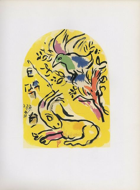 Marc Chagall, 'The Jerusalem Windows: Naphtali Sketch', 1962, Print, 20 Color Stone Lithographe, Inviere Gallery
