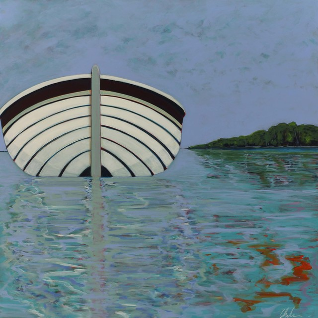 , 'Boat with Island View,' 2016, Caldwell Snyder Gallery