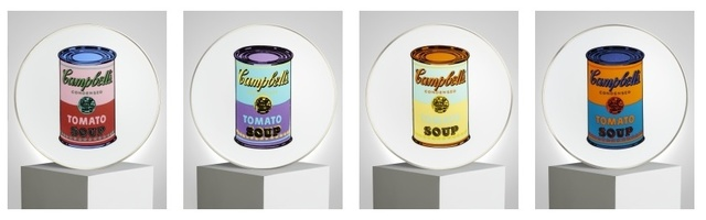 , 'Set of 4 plated (Campbell's Soup),' , Artsnap