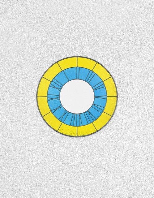 , 'yellow blue white clock,' 2016, Esther Schipper
