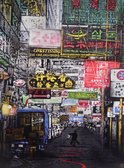 Nick Walker, 'Painting The Town Red / Hong Kong Street Scene Two', 2015, Chiswick Auctions