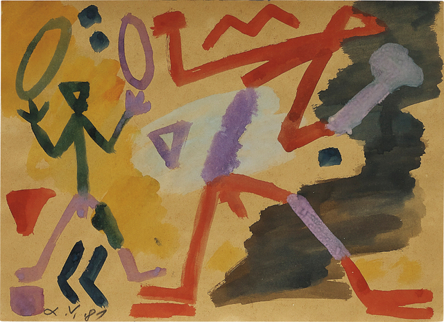 A.R. Penck, 'Ohne Titel', 1981, Phillips