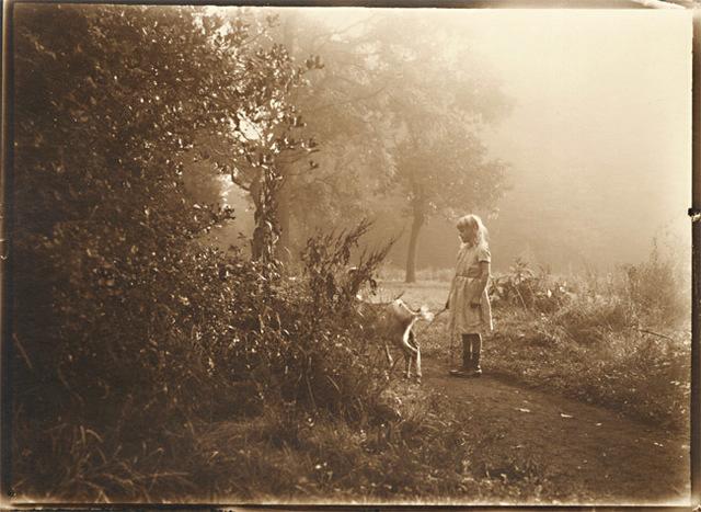 Léonard Misonne, 'Girl and Her Goat', 1920s, Contemporary Works/Vintage Works