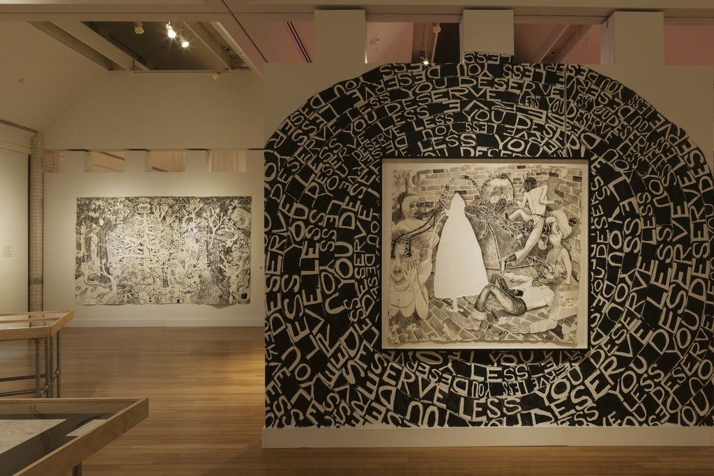 Trenton Doyle Hancock: Skin and Bones, 20 Years of Drawing Installation view at the Virginia Museum of Contemporary Art. Photograph by Glen McClure