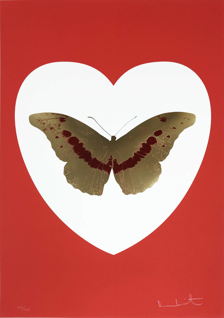 Damien Hirst, 'I Love You - White/Red/Cool Gold/ Poppy Red', 2015, Hamilton-Selway Fine Art