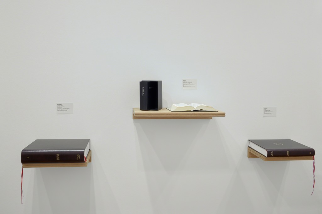 mfc-michèle didier booth's view in FIAC 2016. Artist books by On Kawara and Allan McCollum. 
