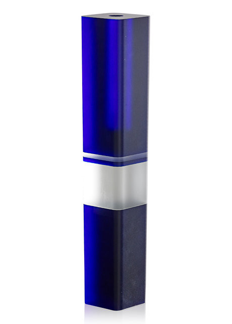 Frantisek Vizner, 'Untitled (Tall Vase with Two Stripes)', ca. 1984, Design/Decorative Art, Cast, cut, sandblasted, and polished glass, Czechoslovakia, Rago/Wright