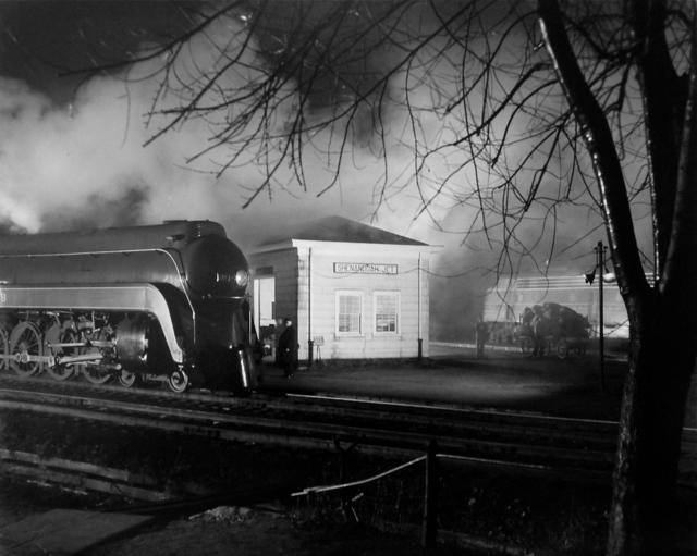 , 'Meeting of N&W #2 and B&O #7(Steam meets Diesel),' 1957, Danziger Gallery