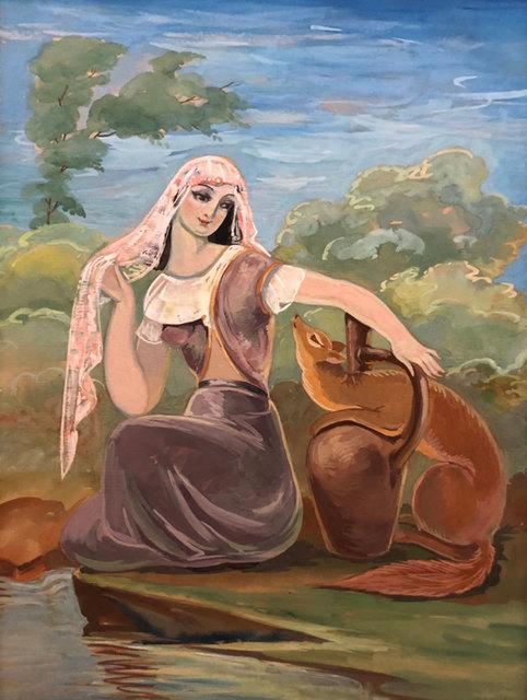 Lado Gudiashvili, 'Eteri and a fox', 1959, Baia Gallery