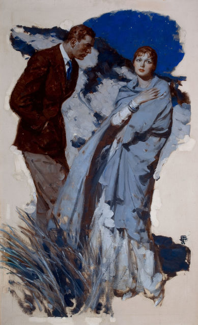 Saul Tepper, 'Couple Standing in Dunes', The Illustrated Gallery