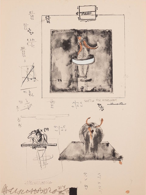 Robert Rauschenberg, 'Sketch for Monogram, 1959', 1973, RAW Editions