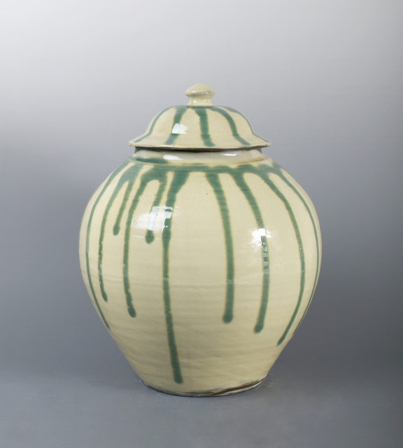 , 'Jar with Poured Green Glaze over White Ground ,' n/a, Pucker Gallery
