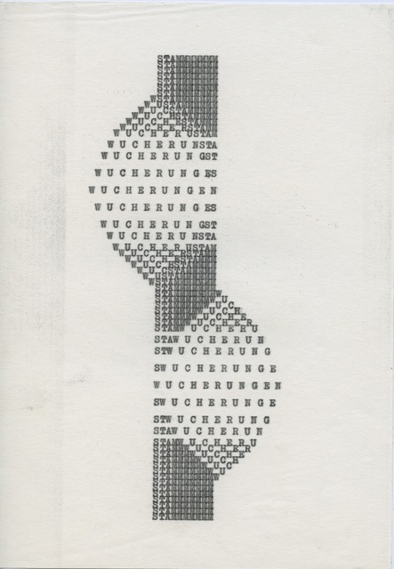 , 'Wucherungen,' ca. 1970, ChertLüdde