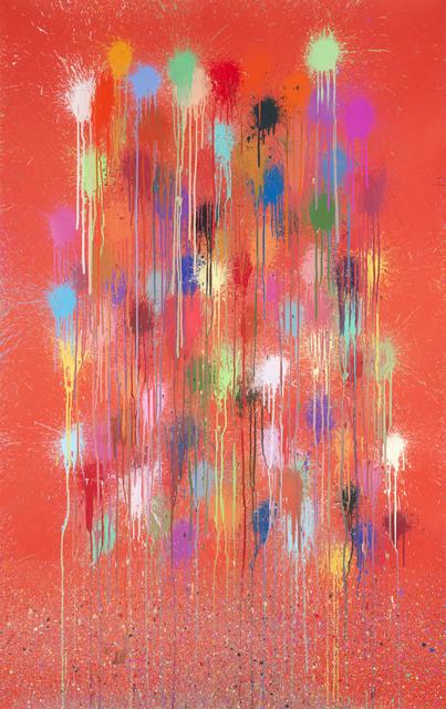 Ian Davenport, 'Red Sparkle', 2019, Cristea Roberts Gallery