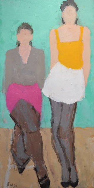 , 'Two figures,' 2014, Cadogan Contemporary