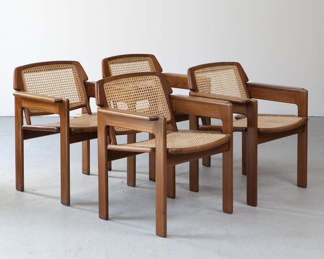 "Sergio Rodrigues, 'Set of four ""Julia"" chairs', ca. 1980, R & Company"