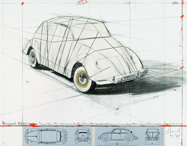 Christo and Jeanne-Claude, 'Wrapped Volkswagen, Project for 1961 Volkswagen Beetle Saloon', 2013, Schellmann Art