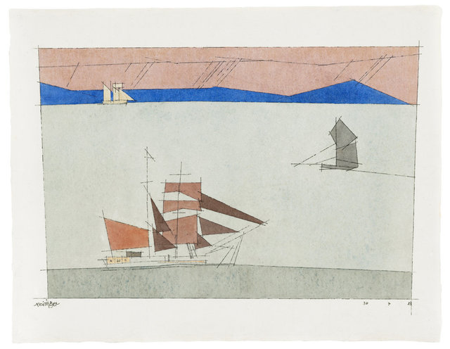 , 'Three Sailing Boats,' 1933, Ludorff