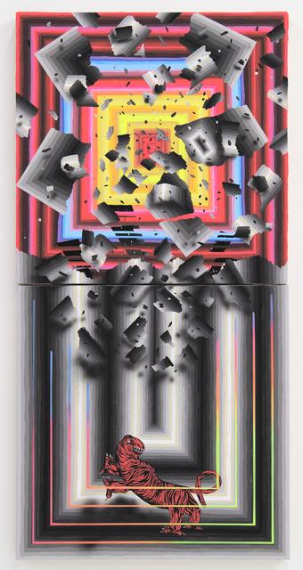 Andrew Schoultz, 'Falling Structure (Beast)', 2014, Hosfelt Gallery