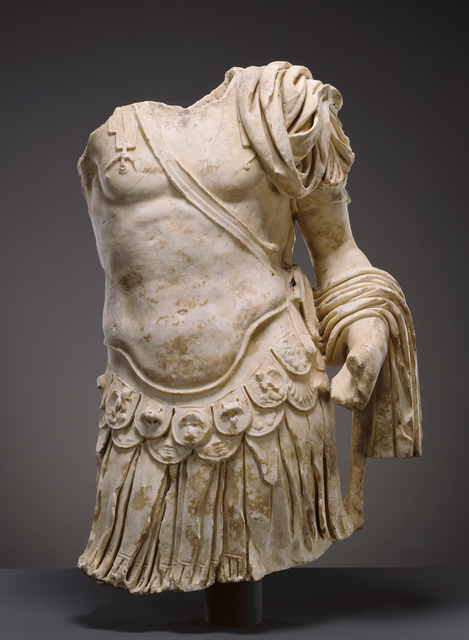 'Torso of a Cuirassed Statue',  about 83 -85, J. Paul Getty Museum