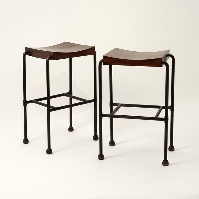 , 'Pair of MT 344 Bar Stools,' 1926, Maison Gerard