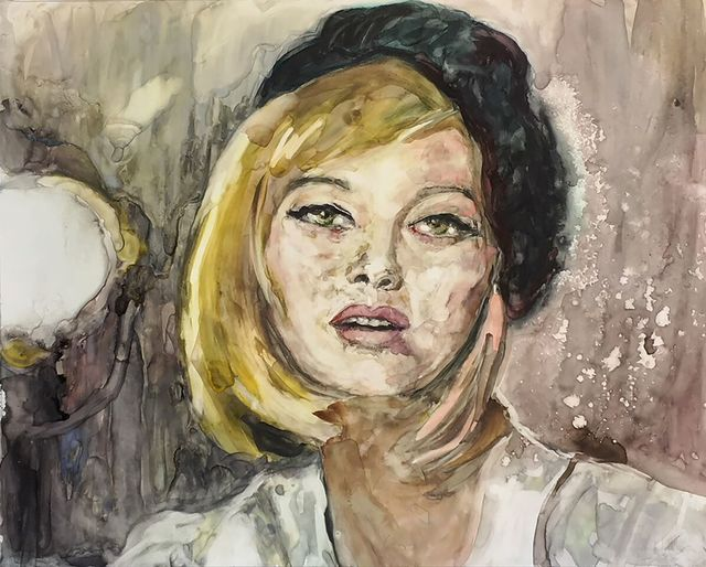 ", '""I am desperate and vulnerable...I am always terrified."" -- Faye Dunaway,' 2017, Ro2 Art"