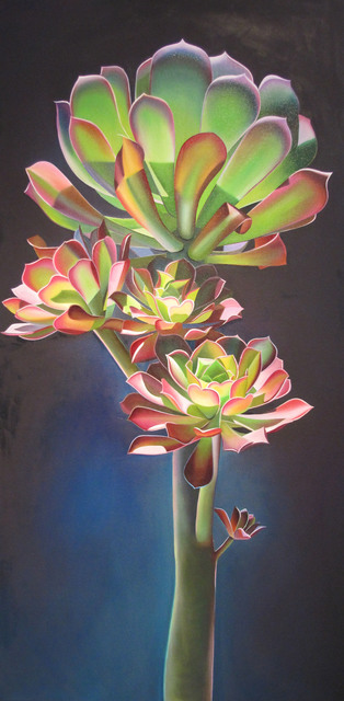 ", '""Four Friends and the Ocean, Aeonium and Sea"",' 2017, Bonner David Galleries"