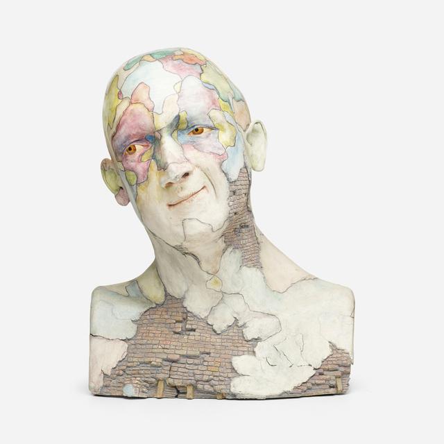 John Woodward, 'Tectonick', c. 1987, Textile Arts, Paint and graphite on ceramic, Rago/Wright