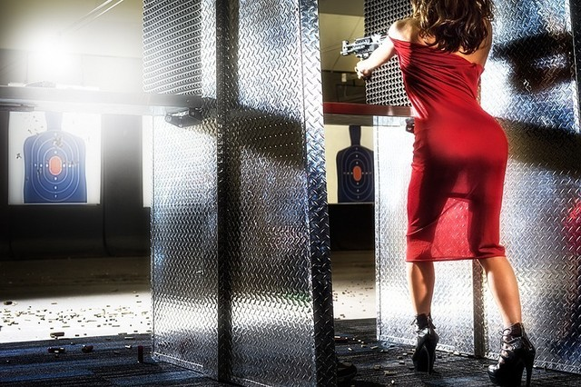 David Drebin, 'Red Target', 2014, Photography, Chromogenic Print, CHROMA GALLERY