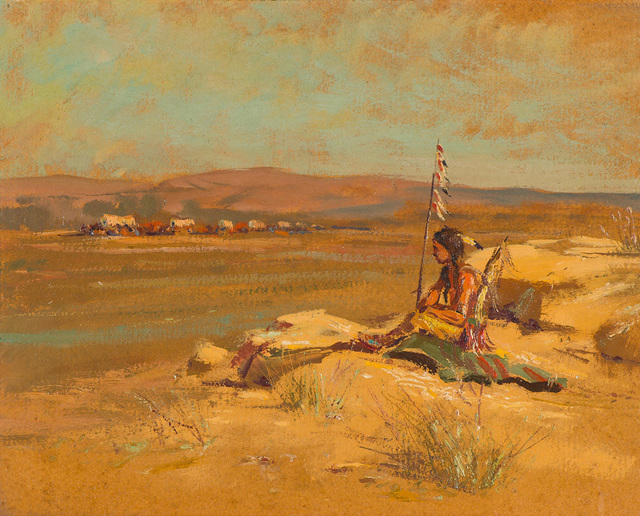 , 'The Last Scout (The Indian Scout),' ca. 1912, Larsen Gallery
