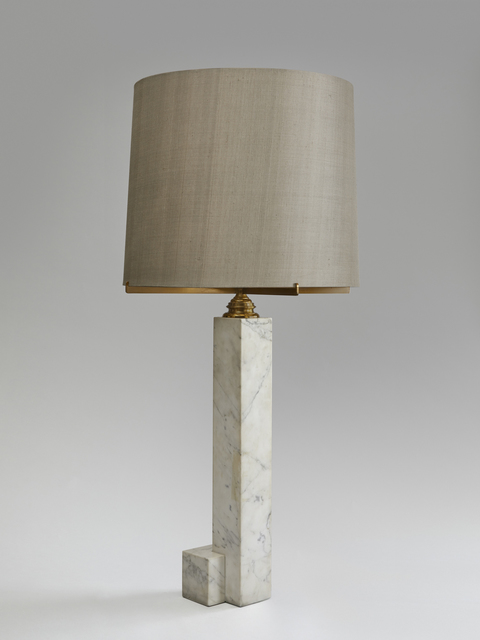 In the style of Jacques Quinet, 'An important marble and bronze table lamp ', ca. 1960, Galerie Hervouet