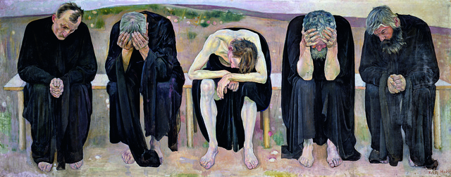 , 'The Disappointed Souls (Les âmes déçues),' 1892, Guggenheim Museum