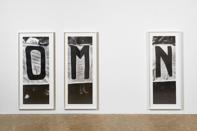 , 'O, M, N (installation view),' 2015, Pippy Houldsworth Gallery
