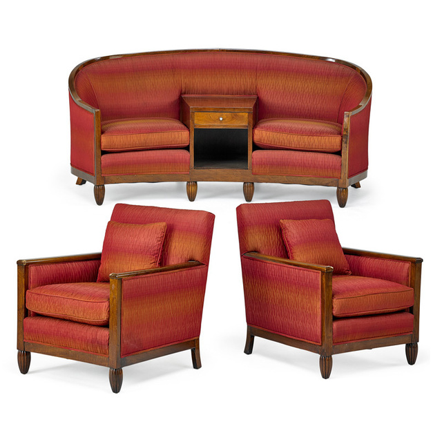 Outstanding Dominique Attr Three Piece Set With Two Lounge Chairs And Ocoug Best Dining Table And Chair Ideas Images Ocougorg