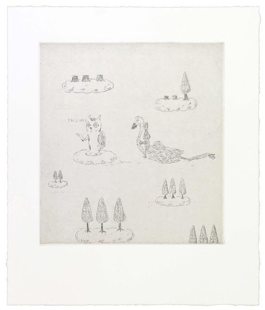 , 'This way cat leads Robert..,' 2014, Polígrafa Obra Gráfica