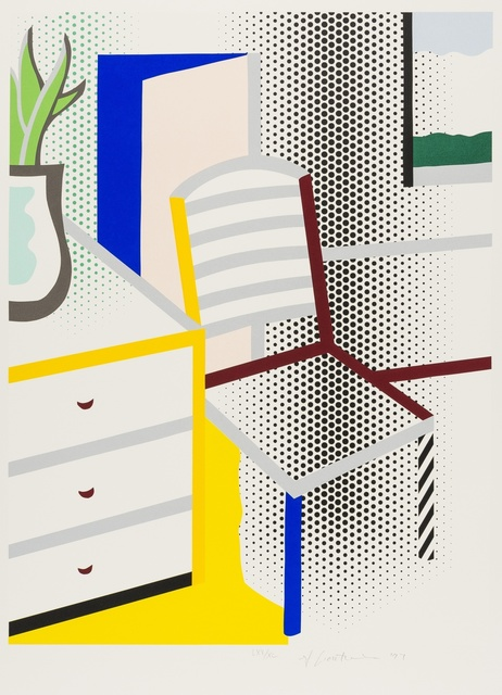 Roy Lichtenstein, 'Interior with Chair (Corlett 309)', 1996, Forum Auctions