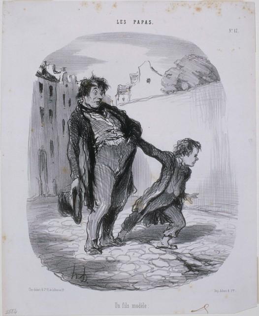 Honoré Daumier, 'Les Papas: Un fils modèle', 1847, Phillips Collection
