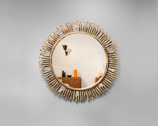 ", 'Very rare ""Solaire"" mirror,' ca. 1965, Galerie Chastel-Maréchal"