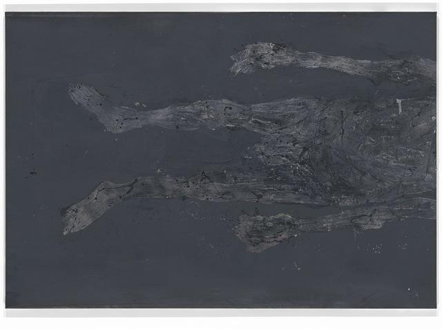 , 'Wir haben im Keller die Briketts mit Kreidepulver bestreut,' 2015, Galerie Thaddaeus Ropac