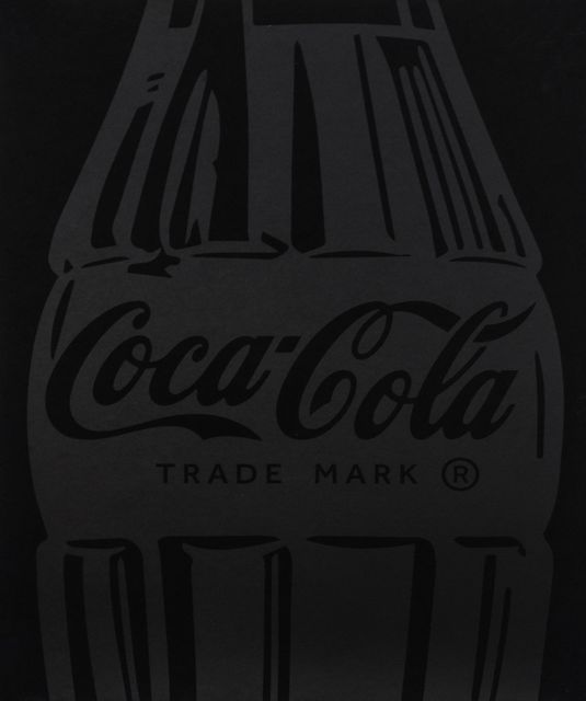 , 'Single Coca-Cola (black on black),' 2017, Samuel Owen Gallery