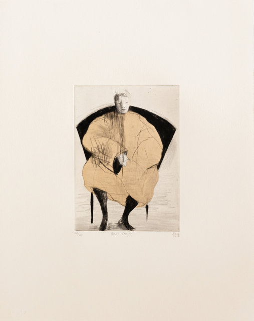 Deborah Bell, 'Frail Crown', 2017, Print, Drypoint on chine colle, David Krut Projects