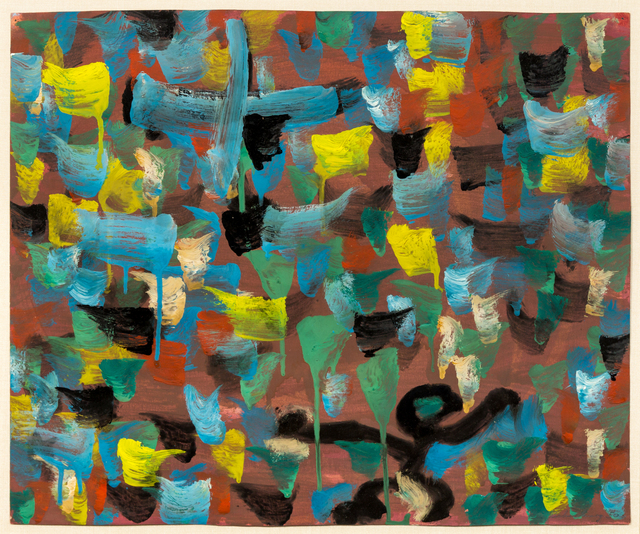 Robert Richenburg, 'Recapture the Error', 1950, Drawing, Collage or other Work on Paper, Oil on paper, Hindman