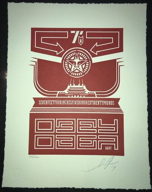 Shepard Fairey (OBEY), 'Obey Chinese Banner Letterpress Print', 2014, New Union Gallery