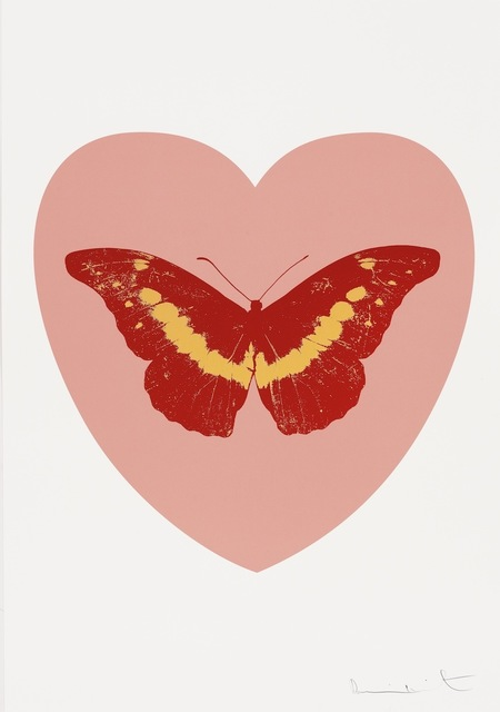 , 'I Love You - pink, poppy red, cool gold,' 2015, Paul Stolper Gallery